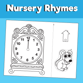 Hickory Dickory Dock Printable Craft