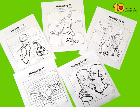 soccer themed math game