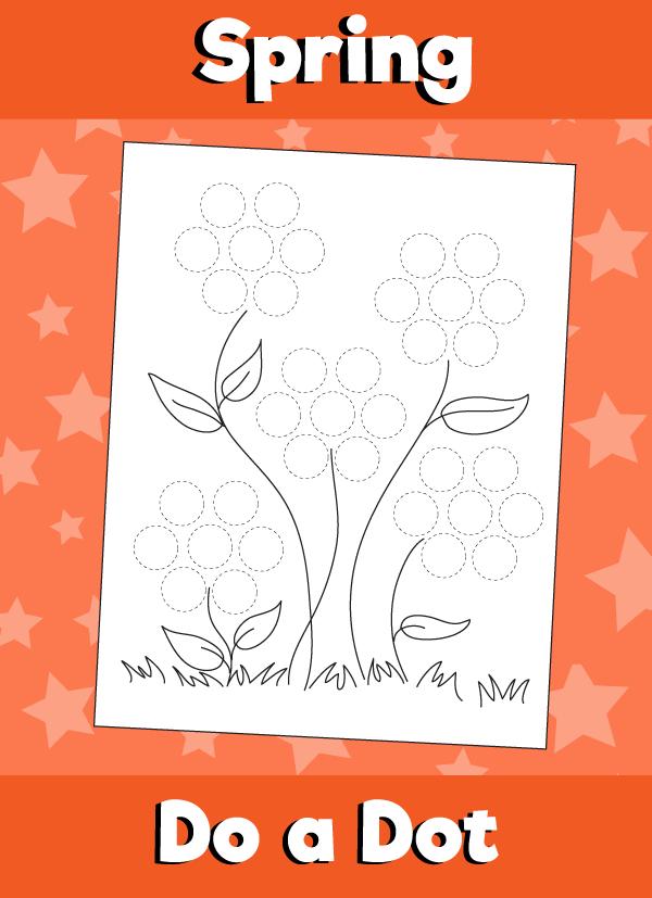 do a dot flowers