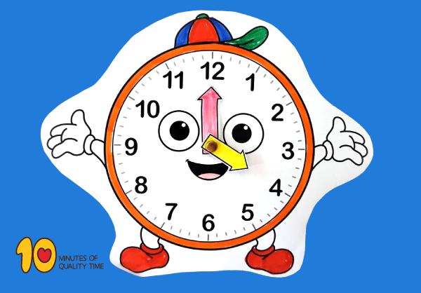 image regarding Telling Time Printable Game identified as Telling Year Printable Video game 10 Minutes of Good quality Year