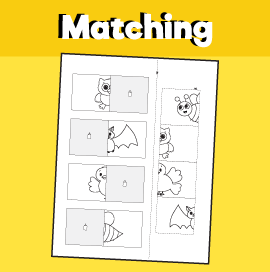 Animal Matching Worksheet - 2
