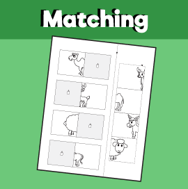 Animal Matching Worksheet - 3