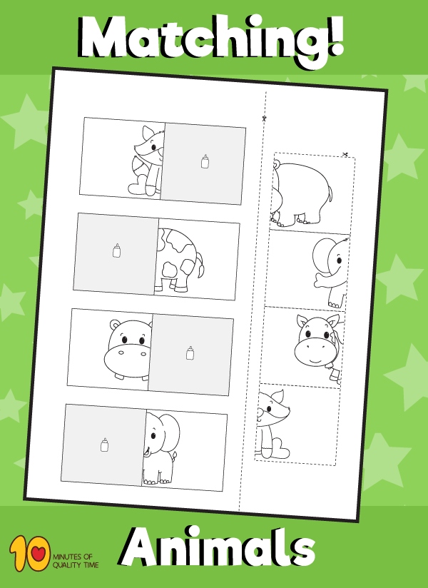 Animal Matching Worksheet - 4