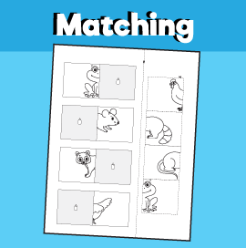 Animal Matching Worksheet - 6