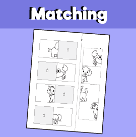 Animal Matching Worksheet - 7