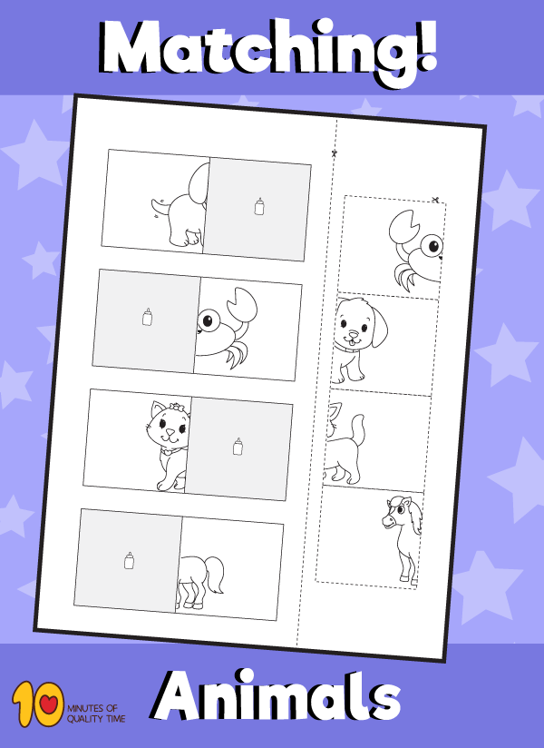 Animal Matching Worksheet - 7