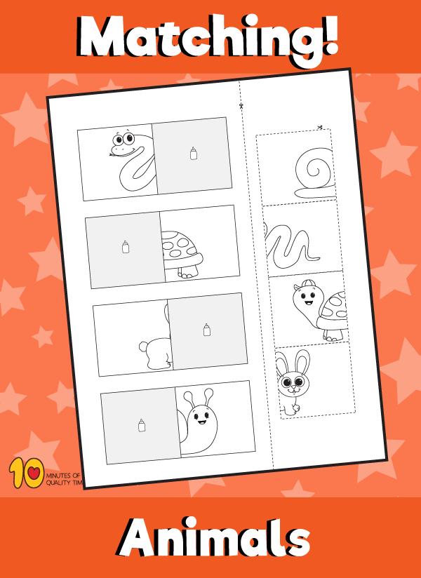Animal matching worksheet