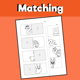 Animal matching worksheet