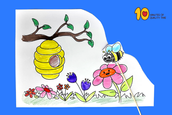 Bee Flying to Hive Craft