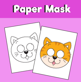 Cat Paper Mask Template