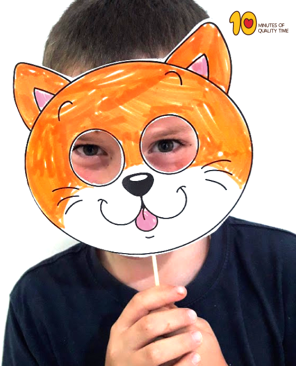 Cat Paper Mask Template 10 Minutes Of Quality Time