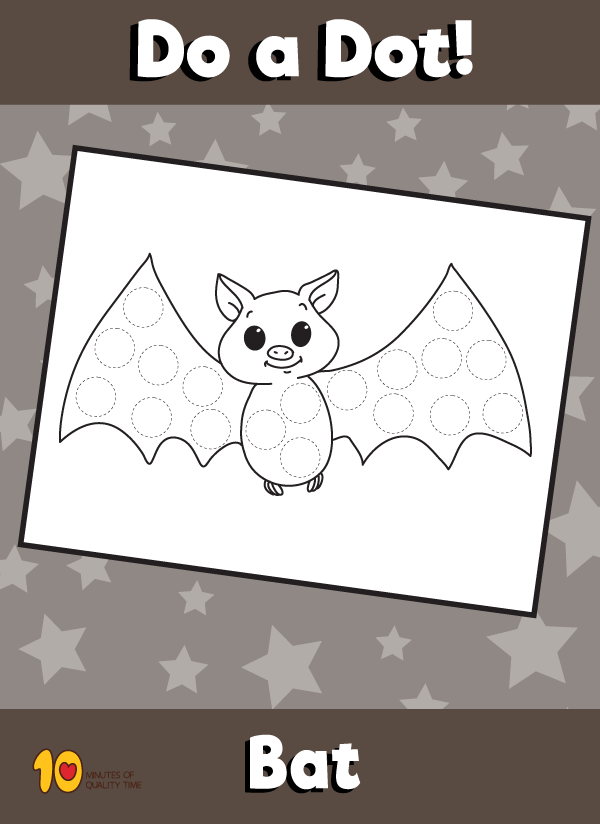 Dot Activity Animals - Bat