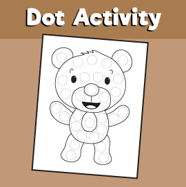 Dot Activity Animals - Bear