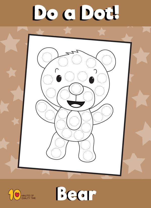 Dot Activity Animals - Bear