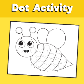 Dot Activity Animals - Bee