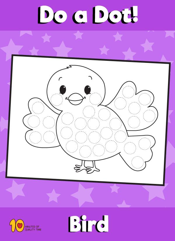 Dot Activity Animals - Bird