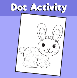 Dot Activity Animals - Bunny