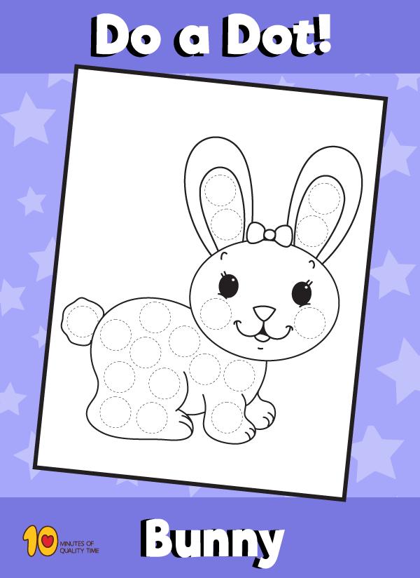 Dot Activity Animals - Bunny