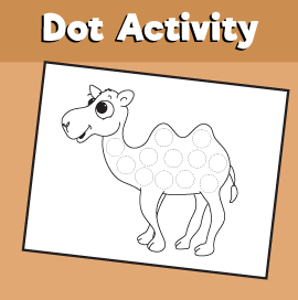 Dot Activity Animals - Camel