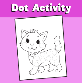 Dot Activity Animals - Cat