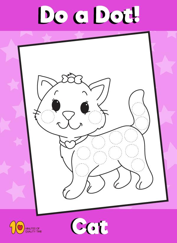 Dot Activity Animals - Cat