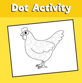 Dot Activity Animals - Chicken