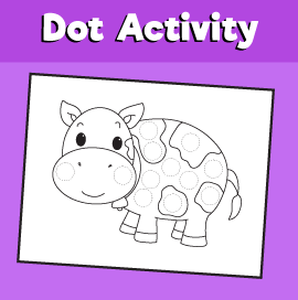 Dot Activity Animals - Cow