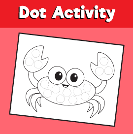 Dot Activity Animals - Crab