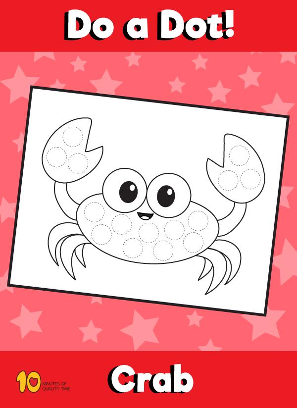 Dot Activity Animals - Crab