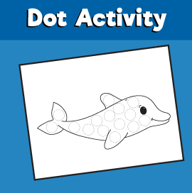 Dot Activity Animals - Dolphin