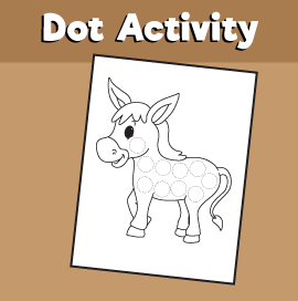 Dot Activity Animals - Donkey