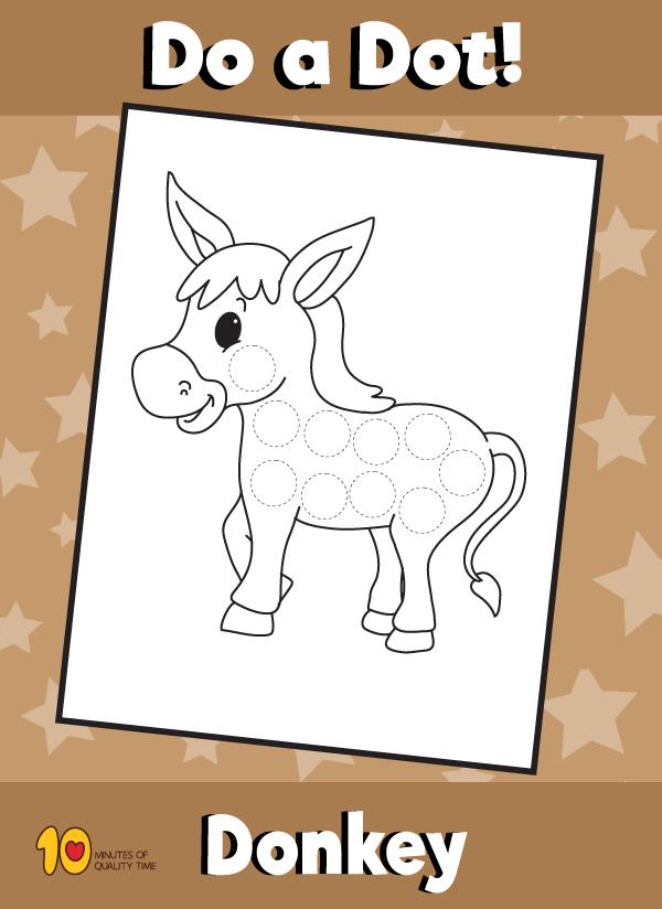Dot Activity Animals - Donkey