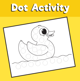 Dot Activity Animals - Duck