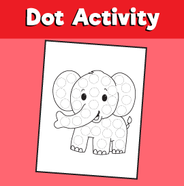Dot Activity Animals - Elephant
