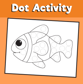 Dot Activity Animals - Fish