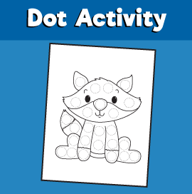 Dot Activity Animals - Fox
