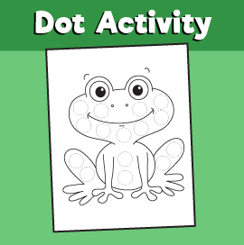 Dot Activity Animals - Frog