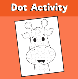 Dot Activity Animals - Giraffe