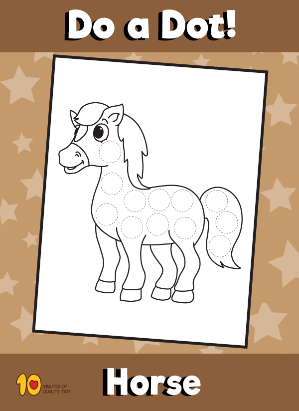 Dot Activity Animals - Horse