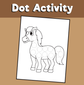 Dot Activity Animals - Horse