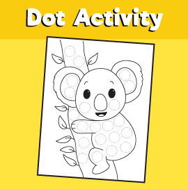 Dot Activity Animals -Koala