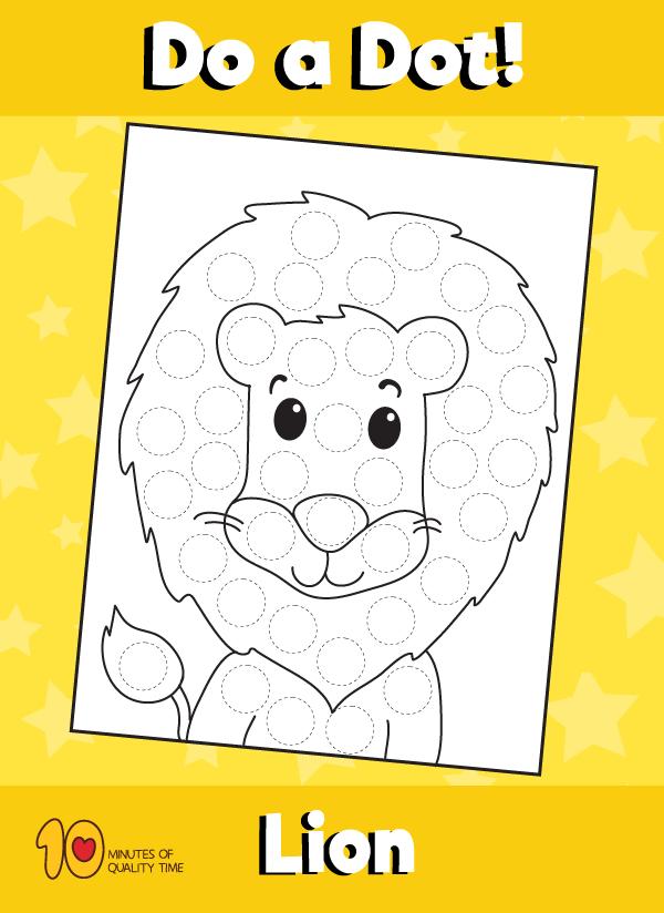 Dot Activity Animals Lion