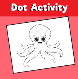 Dot Activity Animals - Octopus