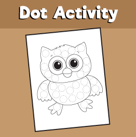 Dot Activity Animals - Owl