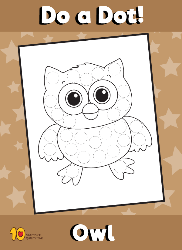 Dot Activity Animals - Owl