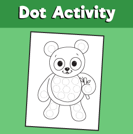 Dot Activity Animals - Panda