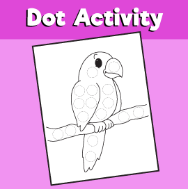 Dot Activity Animals - Parrot