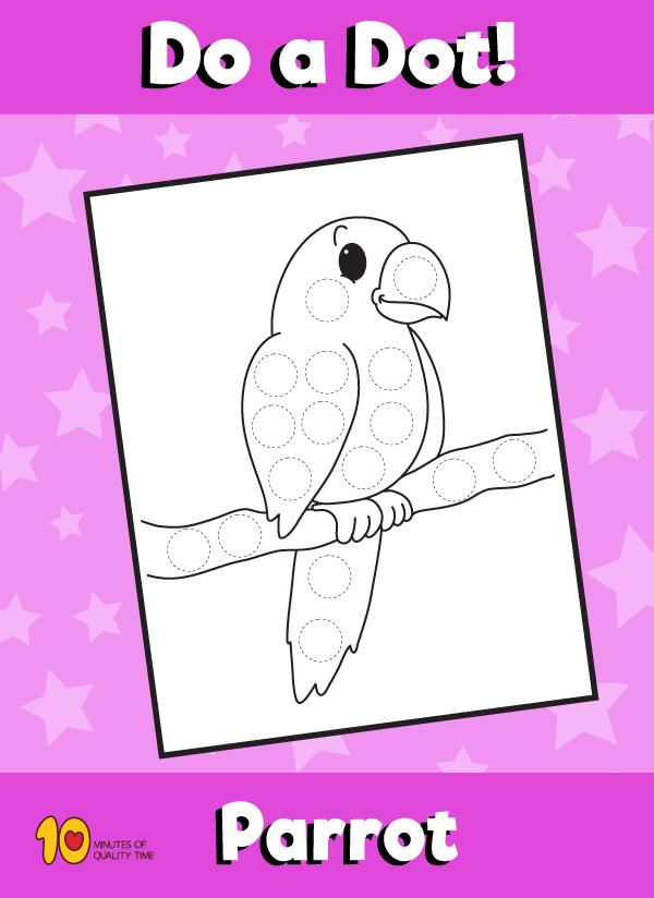 Dot Activity Animals - Parrot