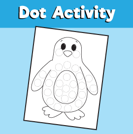 Dot Activity Animals - Penguin
