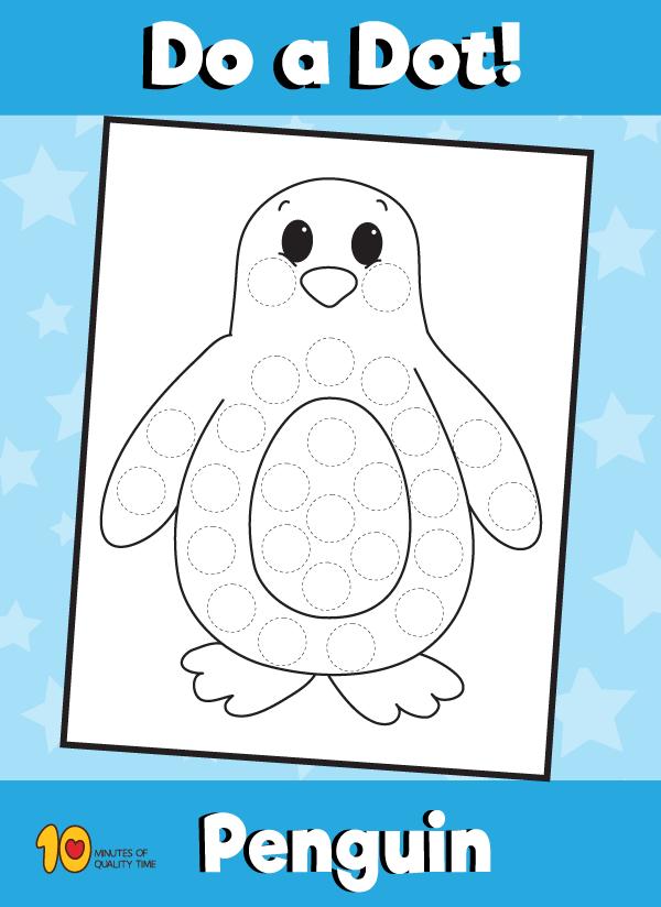 Dot Activity Animals - Penguin